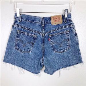 Levi's 550 Jean Cutoff Shorts